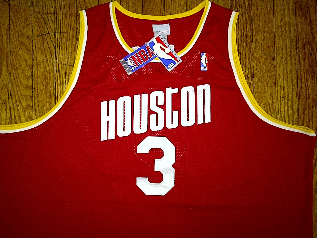 Authentic Reebok Houston Rockets Steve Francis-Red/Yellow Retro Nights Jersey 60