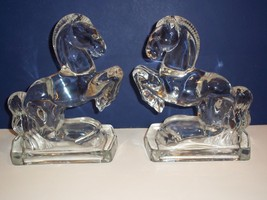 PAIR (Two) New Martinsville CRYSTAL CLEAR GLASS... - $174.12