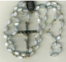 Rosary - Blue Lucite Bead - 19 inches Long - MB-611/BLU