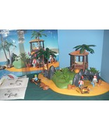 RARE Vintage Playmobil #3799 Pirates' Secret Island Comp. w/Box/ EXC! (r... - $140.00