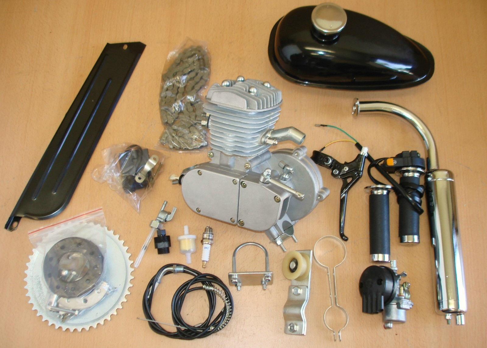 80cc 2-Stroke Engine Motor Kit Motorized Bicycle Bike Complete Kit