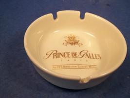 PRINCE DE GALLES PARIS CERAMIC ASHTRAY GOLD GILDED DESIGN - $19.99