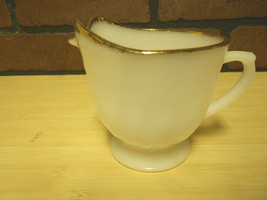VINTAGE WHITE MILK GLASS CREAMER DISH CUP BY FIRE KING - $11.87