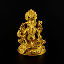 """2.5"""" Gold Plated Ganesh Statue - $40.00"""