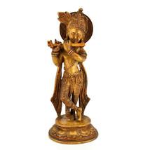 "9"" Brown krishna statue - $40.00"