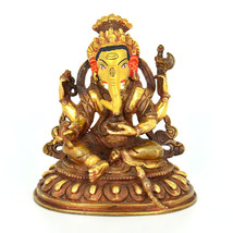 """5"""" Gold Plated/Copper Ganesh Statue - $199.99"""