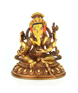 "5"" Gold Plated/Copper Ganesh Statue - $265.73 CAD"