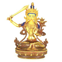 "9"" Gold Plated/Copper Manjushree Statue - $250.00"