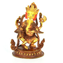 """6"""" Gold Plated/Copper Ganesh Statue - $250.00"""