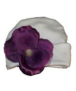 Preemie & Newborn Girl's Purple Rose Petal Hat  - $10.00