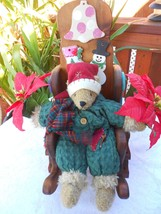 CHRISTMAS HOLIDAY DECOR TEDDY BEAR AND HANDCRAF... - $12.86