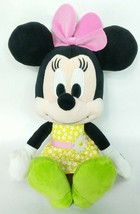"Disney Minnie Mouse Yellow Floral Plush Stuffed Animal 13"" - $15.84"