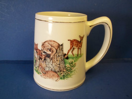 DEER RACCOON RABBIT FOX  Coffee Cup Mug SOUTHERN LIVING GALLERY Forest F... - $12.99