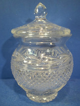 CLEAR GLASS - CRYSTAL GINGER JAR  WITH LID - $39.99