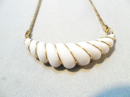 Vintage Necklace/Collar Signed AVON White Lucite Pendant Mother's Day Gift - $16.78
