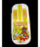 Pocket Monsters Kids Set Chopsticks Spoon Fork Yellow - $18.95