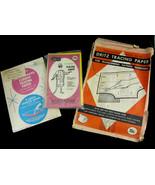 Vintage Lot Dressmaker's Tracing Carbon Paper Penn Karmin Dritz for Coll... - $19.99