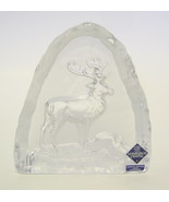 Clear/Frosted Elk Glass Sculpture Edinburgh Crystal Scotland - $40.09