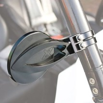"Axia Alloys Round Convex Side Mirror Kit 4"" Black for Yamaha RHINO 660 4x4 2004- - $98.38"