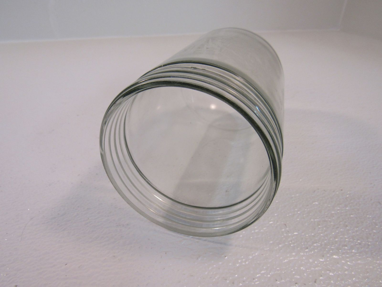 Classic Vintage Light Fixture Lense Cover Jelly Jar Clear Glass