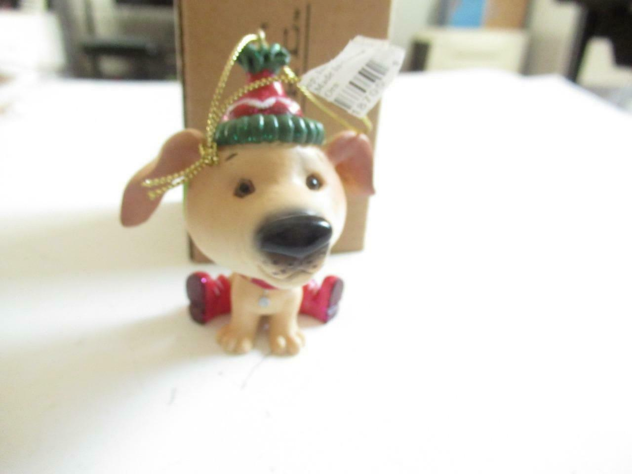 Primary image for CHRISTMAS ORNAMENTS WHOLESALE- RUSS BERRIE- #18705- TAN DOG  NEW -W3