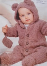 Snuggly Snowflake Chunky: birth to 2yr. Teddy bear outfit - pattern to knit - $8.77