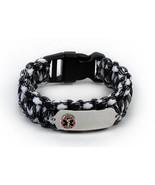 Paracord Medical ID Survival Bracelet with Raised emblem. Free medical C... - $34.99