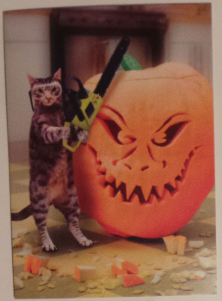 "Greeting Halloween Card ""Carve out some time for fun this Halloween"""