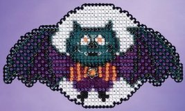 Boris The Bat Autumn Harvest 2015 seasonal ornament kit cross stitch Mill Hill - $6.75