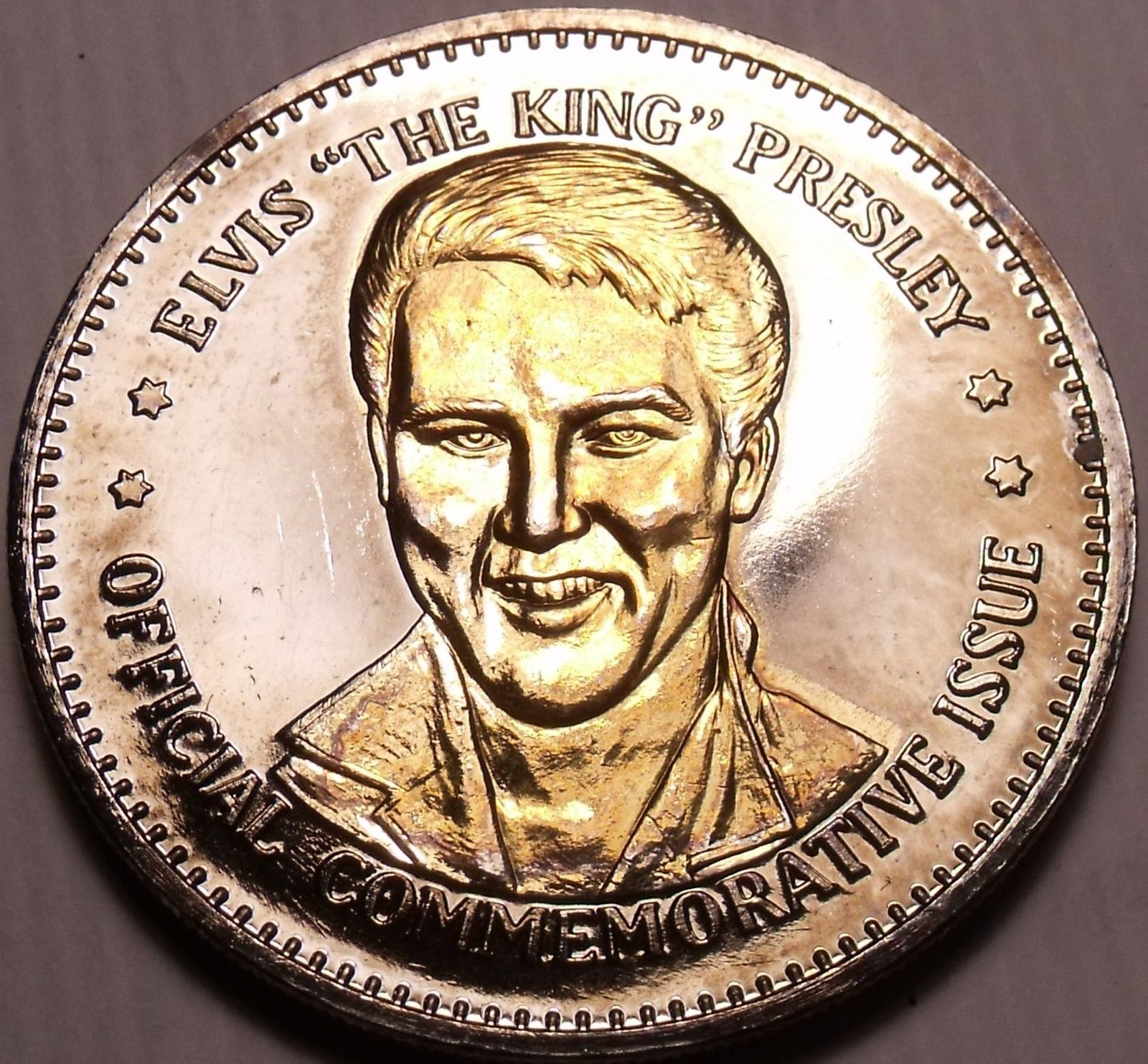 Primary image for Historic Mint Double Eagle Elvis The King Presley Commemorative Medallion~Fr/Shi