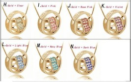 Wholesale Lot of 5 or 10, 2015 Crystal Heart & Ring Necklace Pendant - $24.73+