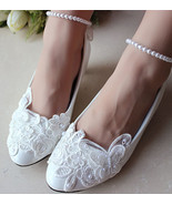 Wedding Flats,Bridal Shoes,Butterfly Bridal Flats,Lace Shoes,Butterfly S... - $58.00