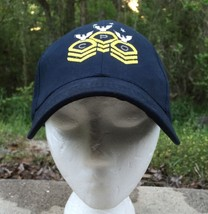 Navy Cheif Petty Officer Hat Cap Blue Adjustable Velcro - $13.09