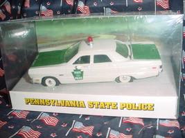 Pennsylvania State Police 1969 Plymouth Fury White Rose Mip Free Usa Ship - $49.49