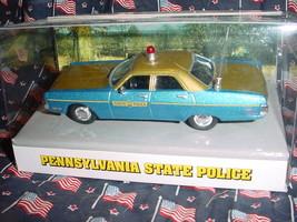 Pennsylvania State Police 1972 Plymouth Fury White Rose Mip Free Usa Ship - $49.49