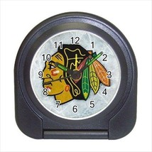 Chicago Blackhawks Compact Travel Alarm Clock (Battery Included) - NHL Hockey - $9.95