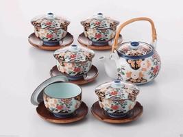 [SUPER SALE] Arita-yaki Porcelain: PEONY - Kyusu Tea pot, 5 tea cup & sa... - $175.77