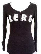 AEROPOSTALE WPL 8046 - Juniors Long Sleeve Embellished Stretch Top - Siz... - $18.27