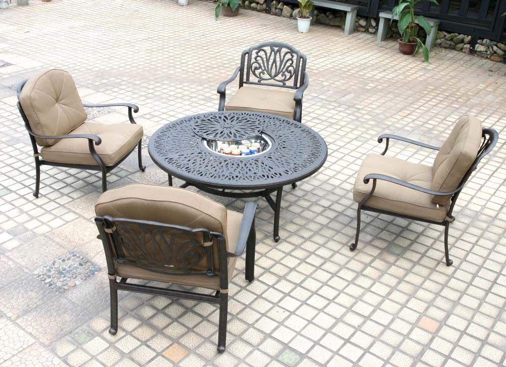 Patio Conversation Set Deep Seating Outdoor Furniture 5-Piece Elisabeth aluminum