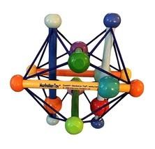 Manhattan Toy Skwish Color Burst Pastel Wood Teether Rattle Baby Activit... - $6.90