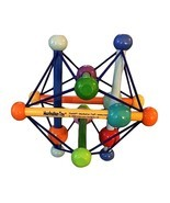 Manhattan Toy Skwish Color Burst Pastel Wood Teether Rattle Baby Activit... - $6.90