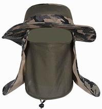 Outdoor Men's Fishing Hat Climbing Cap Camouflage Sun Hat - £16.23 GBP