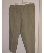 WHITE  STAG  PANTS - SIZE 14 PETITES - 100% COTTON - WASHED OLIVE - $7.99