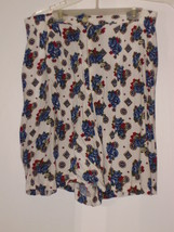 CAPACITY  *SHORTS*  SIZE: M - WHITE WITH MULTICOLOR DESIGN - $5.99