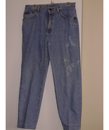 LEE - DENIM JEANS - SIZE ( 14 )  - LIGHT BLUE - 100% COTTON - MADE IN U.... - $7.99