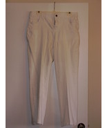 STYLE AND COMPANY  - SIZE ( 12 ) PANTS -WHITE- 98% COTTON / 2% SPANDEX - $7.99