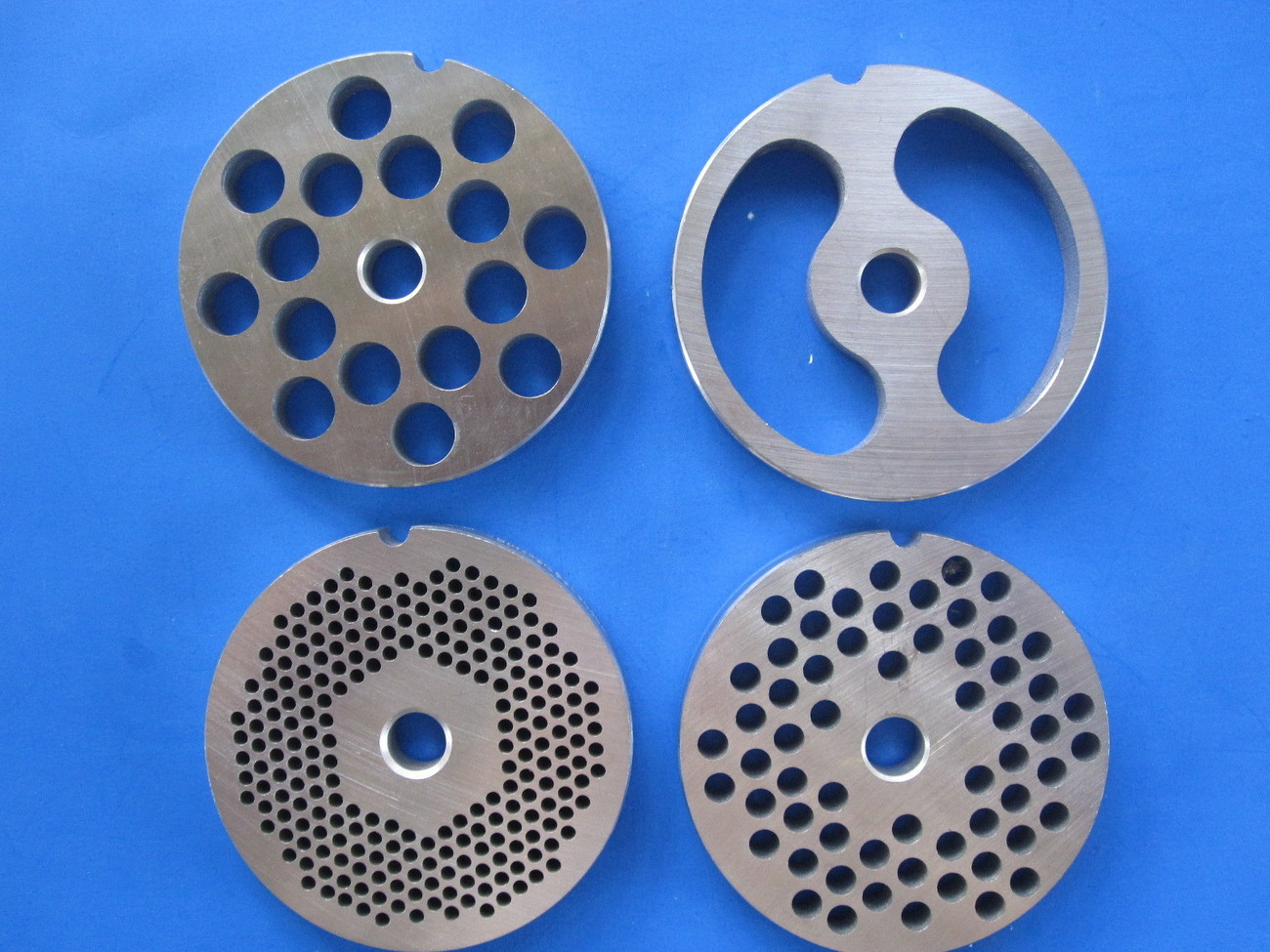 #22 4 pc SET Meat Grinding plates discs Sausage Kidney disc for Hobart Torrey 22
