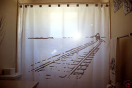 SHOWER CURTAIN Train Tracks car railroad railways rail - $99.99