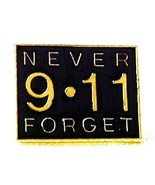 9 11 Never Forget Terrorist Remembrance Lapel Pin Tac September 11 New - $9.57