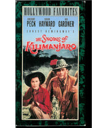 GREGORY PECK  AND AVA GARDNER  * THE SNOWS OF KILIMANJARO  *  V H S - $2.99